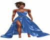 LS Blue Satin dress