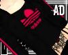-AD- PINK adidas Hoody