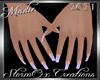 !a Tri Color Nails Lilac