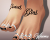 Good Girl Tat Feet