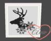 Wall Deer/Snowflakes