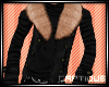 {C} Black Fur Jacket