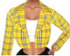 Clueless Plaid Crop Coat