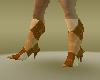 brown panel heel boots