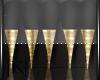 Black/Gold Tips 💋