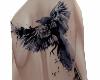 My crow skull tattoo