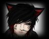 Neko Cat Ears /black/red