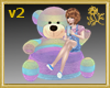 Xtra Rainbow Teddy Seat