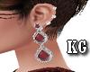 KG*Diamond Borgonha Earr