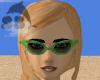L Green V Cat Eye Shades