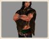 Norse brown fur cloak