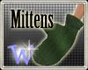 *W* Mittens Green Wool