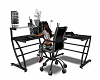 Black & Silver Work Desk