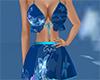 blue floral top skirt