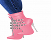 Chained Pink Bootie