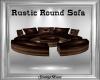 Round Rustic Sofa wPoses