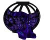 Gothic purple kiss chair