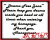 Drama Free Zone Sticker1
