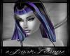 purple blue telah hairs