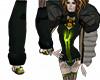 green steampunk legwarme