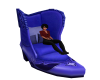 Blue Boot Chair
