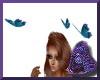 3 Anim Blue Butterflies