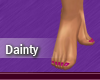 Dainty Feet Pink Nails
