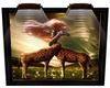Giraffe Lit Frame