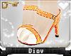 *D* Peach Glitter Heels