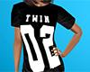 Twin 02 Shirt Black (F)