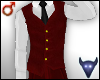 Classy red vest (m)