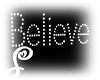 =S=BelieveSign WallLight