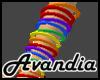 Av~Rainbow Bangles (L)