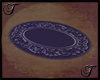 Purple Oval Rug