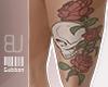$ Skull n' roses tattoo