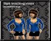 G| Blue long sleeve top