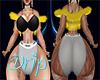 Sassy Drip Fur Vest Ylw