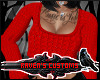 (RC) Crop Sweater Red