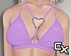 Latex Heart Bra | Purple