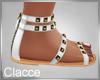C white white sandals