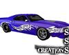 Purple/Blue Mustang