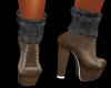 Tan Heeled Boots