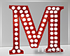 H. Marquee Letter Red M