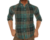 Real Plaid Shirt Teal