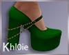 K green xmas heels