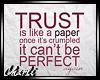 {CS}Trust Is Like Paper