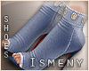 [Is] Denim Ankle Boots 2