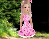 KIDS PINK FLORAL DRESS