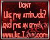 My Attitude Sticker