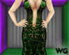 Gold Foil Gown Green